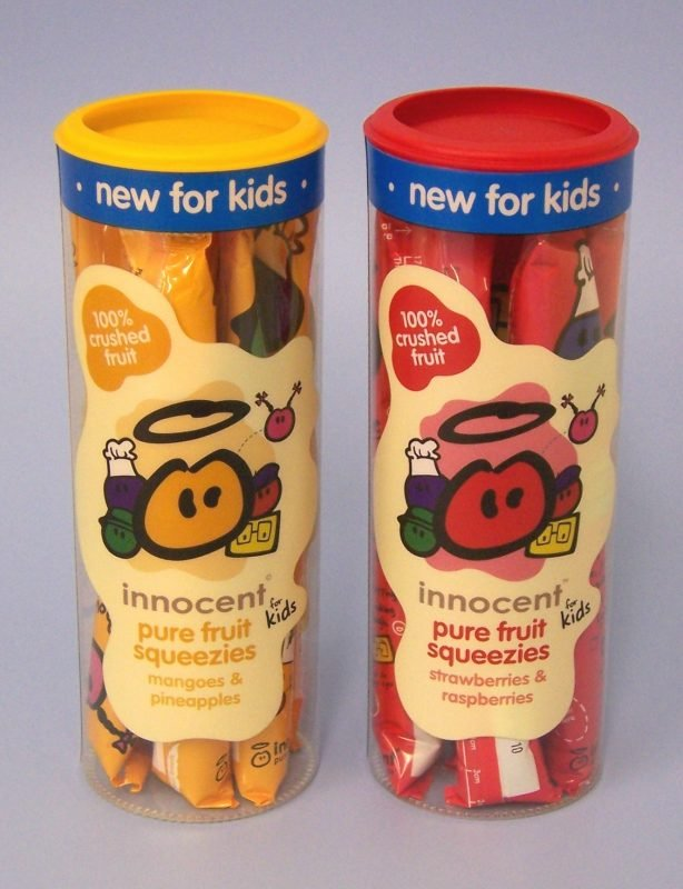 printed transparent tube packaging for confectionary