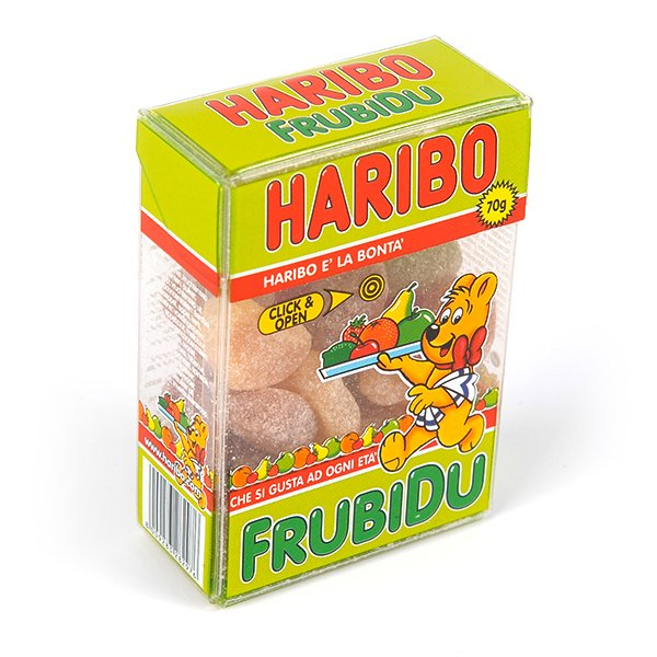acetate box packaging for haribo