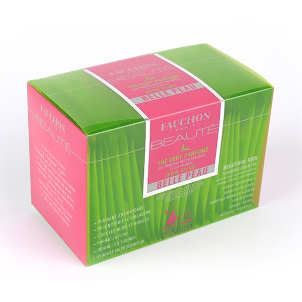 Green printed packaging carton for perfume
