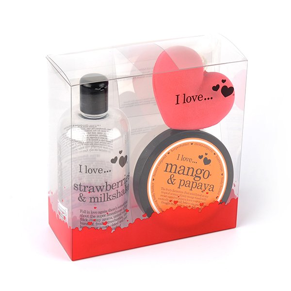 clear plastic packaging gift box for shower gift set