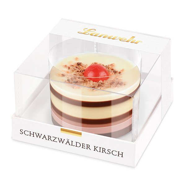large acetate cake box and collar for schwarzwalder kirsch
