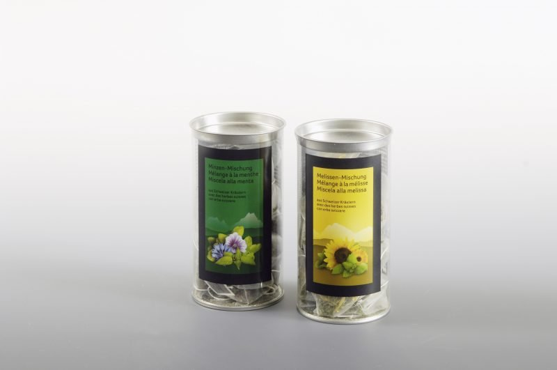 clear plastic tube box for luxury tea bags