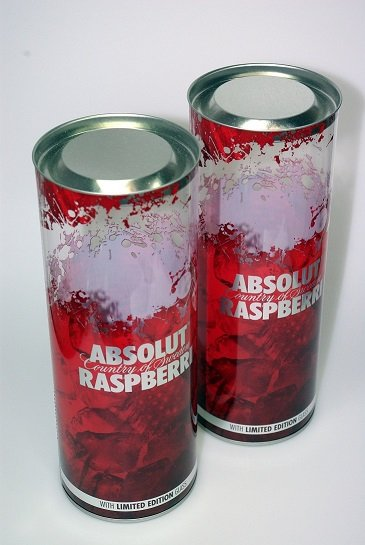 tube packaging for alcoholic gifts