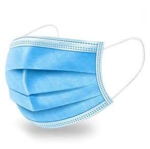 A photograph of a disposable face mask.