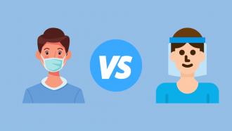 person in mask vs a person in visor
