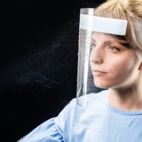 disposable ppe face visor for the NHS made from recyclable plastic