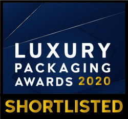 luxury packaging awards shortlisted badge