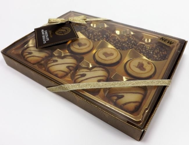 chocolate truffles acetate tray and lid box packaging
