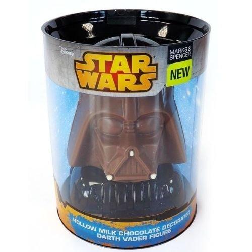 m&s star wars chocolate figure acetate tube box packaging