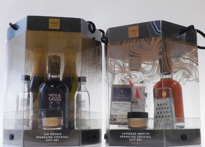 m&s gin acetate gift packaging boxes