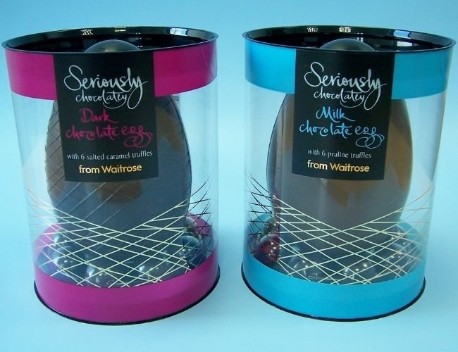 waitrose chocolate easter egg acetate box packaging