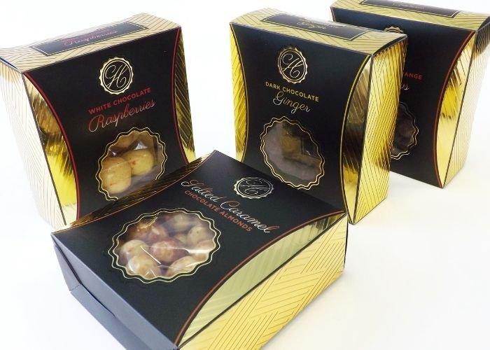 waitrose chocolate truffles luxury acetate packaging boxes